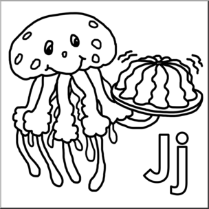 Clip Art: Alphabet Animals: J.