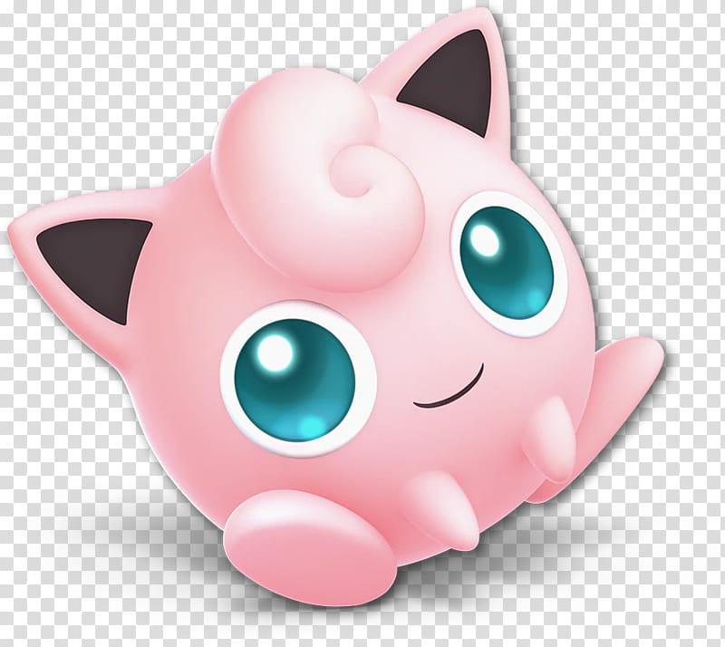 Jigglypuff transparent background PNG cliparts free download.