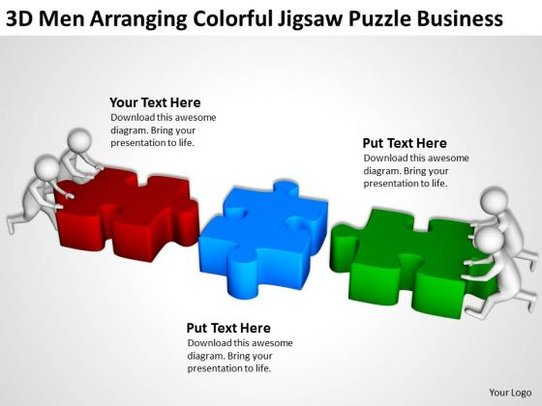 Business People Clipart Jigsaw Puzzle PowerPoint Presentations.