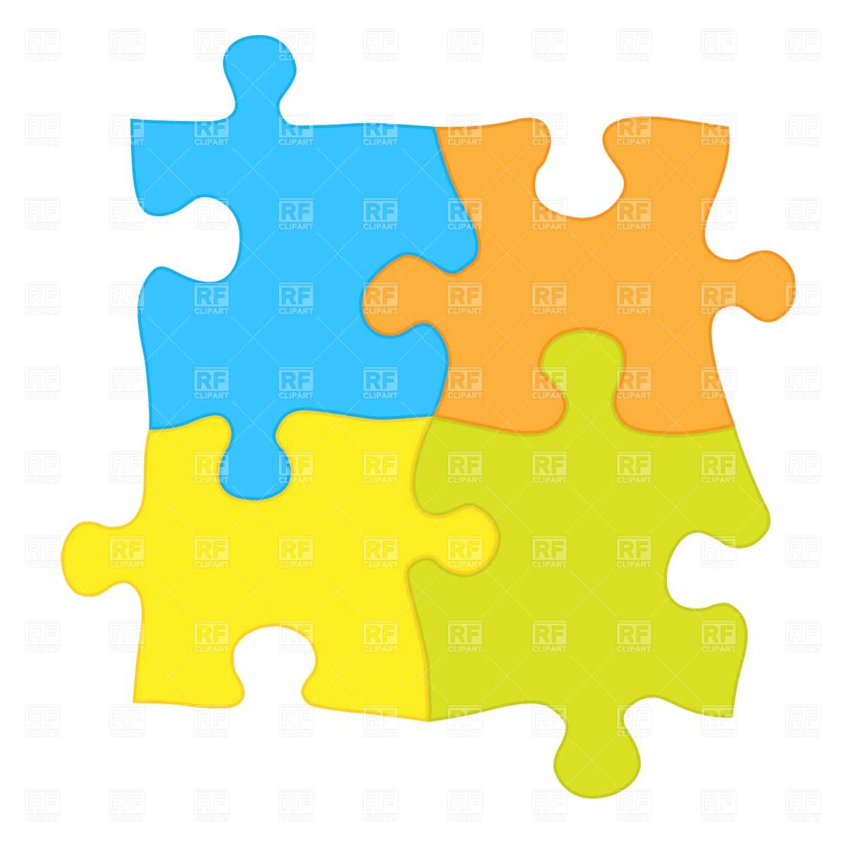 Jigsaw puzzle Stock Vector Image.