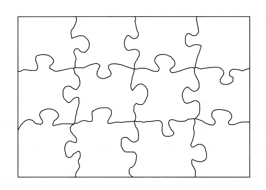 Puzzle Template clipart.