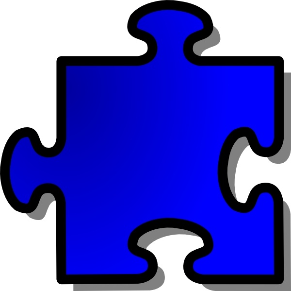 Blue Jigsaw Piece clip art Free vector in Open office.