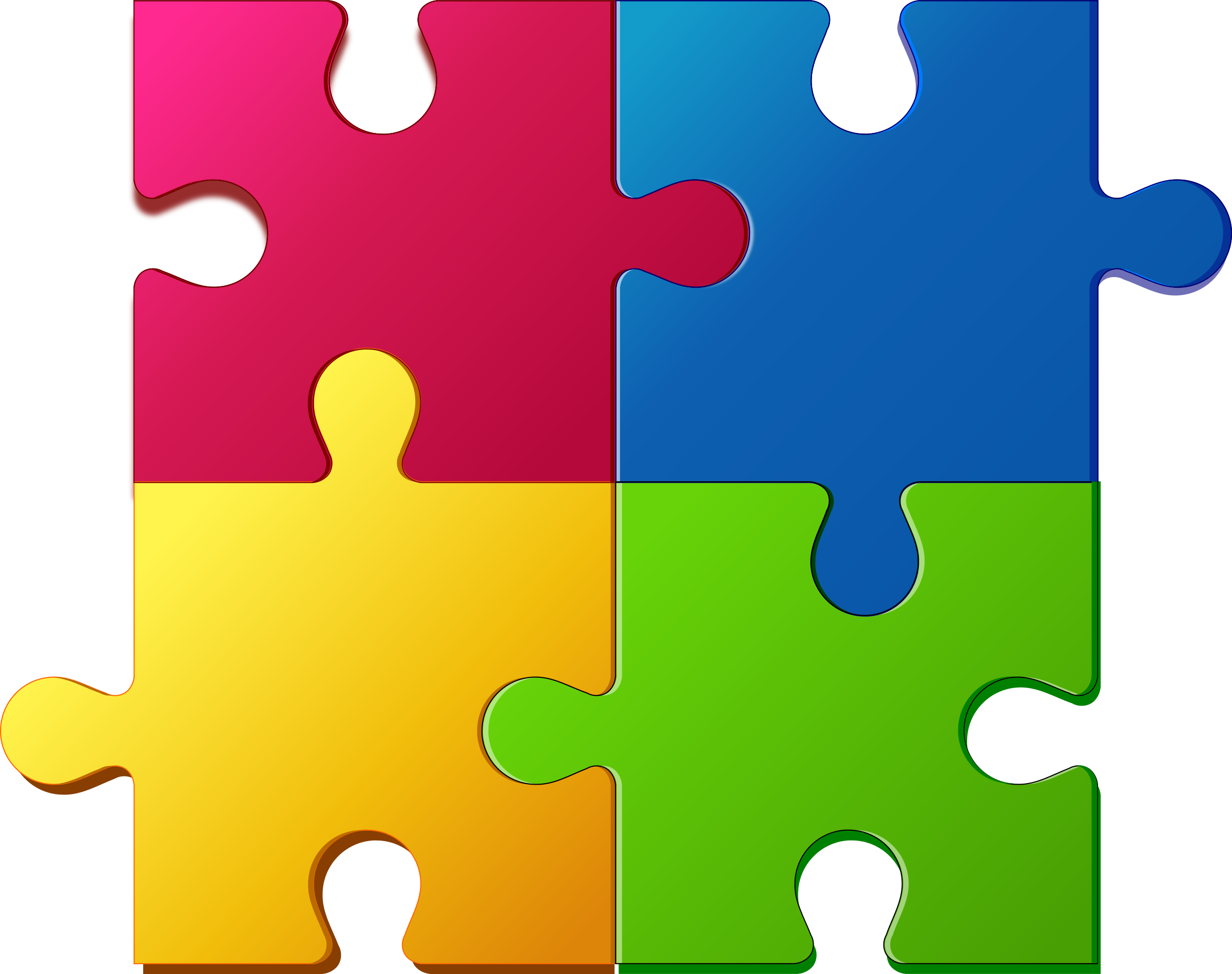 Jigsaw Puzzle Clipart.