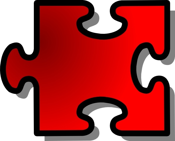 Jigsaw Puzzle Piece clip art Free vector in Open office drawing.