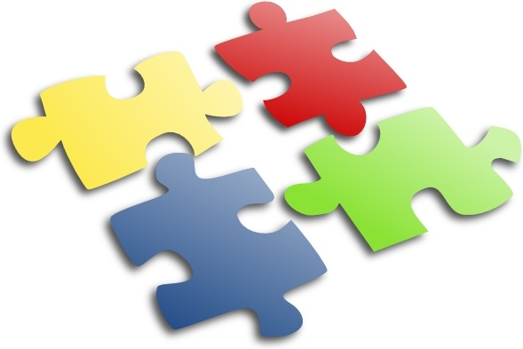Jigsaw Puzzle clip art Free vector in Open office drawing svg.