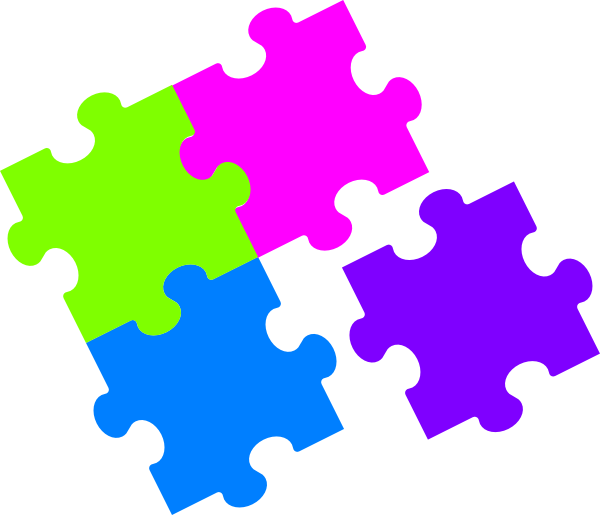 Jigsaw Puzzle Pieces Clipart.