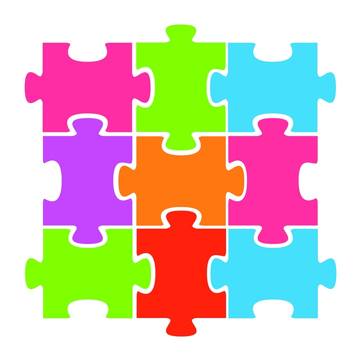 Jigsaw Puzzle Colorful.