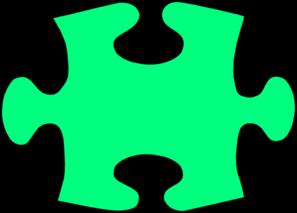 Green Jigsaw Puzzle Piece Large Clip Art at Clker.com.