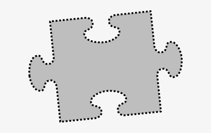 How To Set Use Gray Jigsaw Puzzle Piece Clipart.