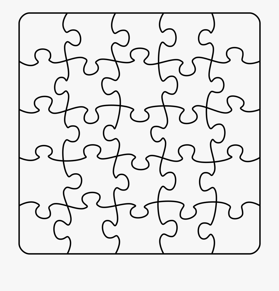 Puzzle Outline Png.
