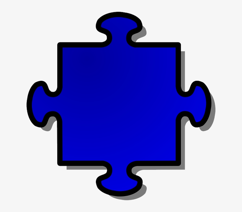 Blue, Shapes, Shape, Jigsaw, Puzzle, Piece.