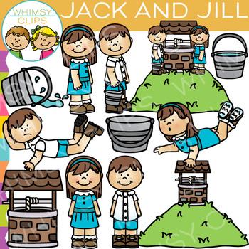 Jack and Jill Clip Art: Nursery Rhyme Clip Art by Whimsy.