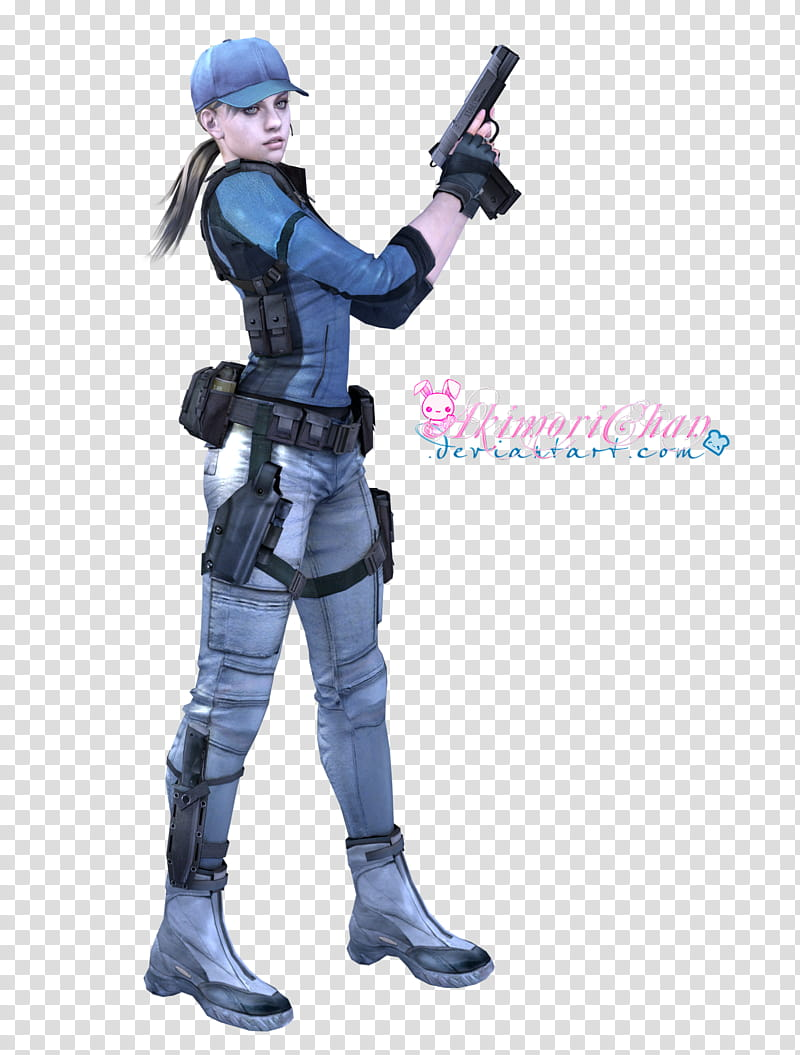 RE Biohazard Jill Valentine BSAA Render, women anime.