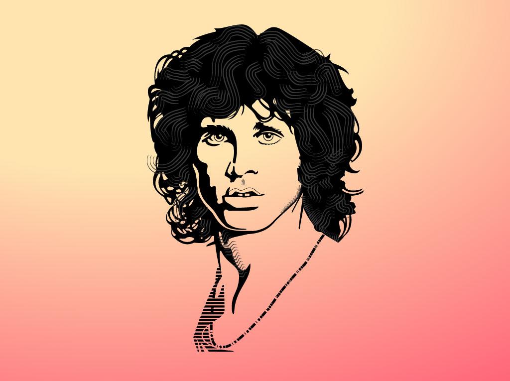 Jim Morrison Tribute Graphics.