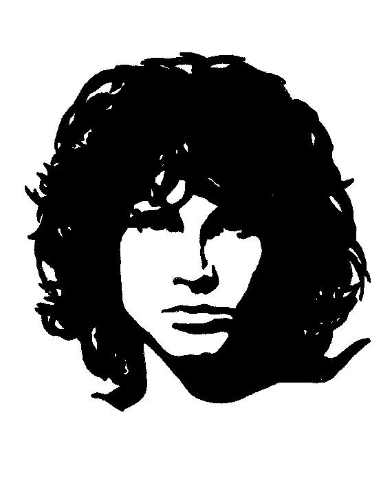 Items similar to Jim Morrison 5x5 Black & White Portrait on Etsy.