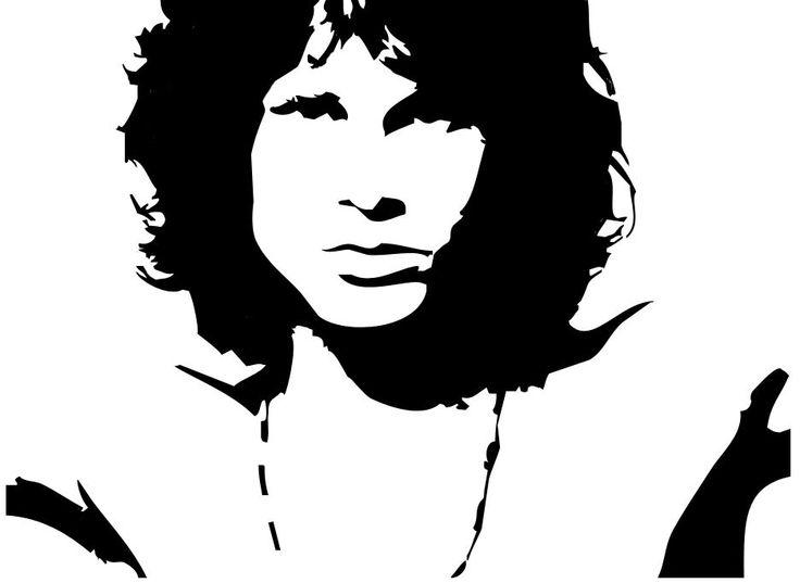 Jimi Hendrix Stencil.