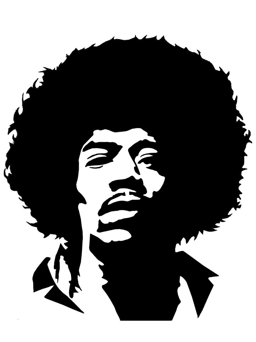 Free Jimi Hendrix Silhouette Vector, Download Free Clip Art.