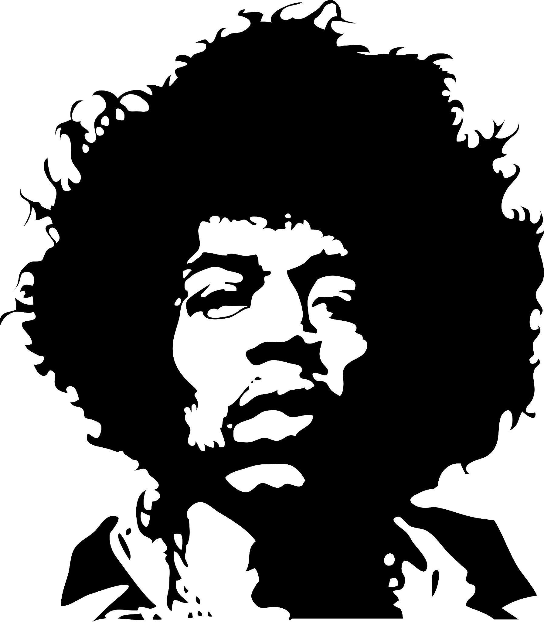 Jimi Hendrix Silhouette Tattoo.