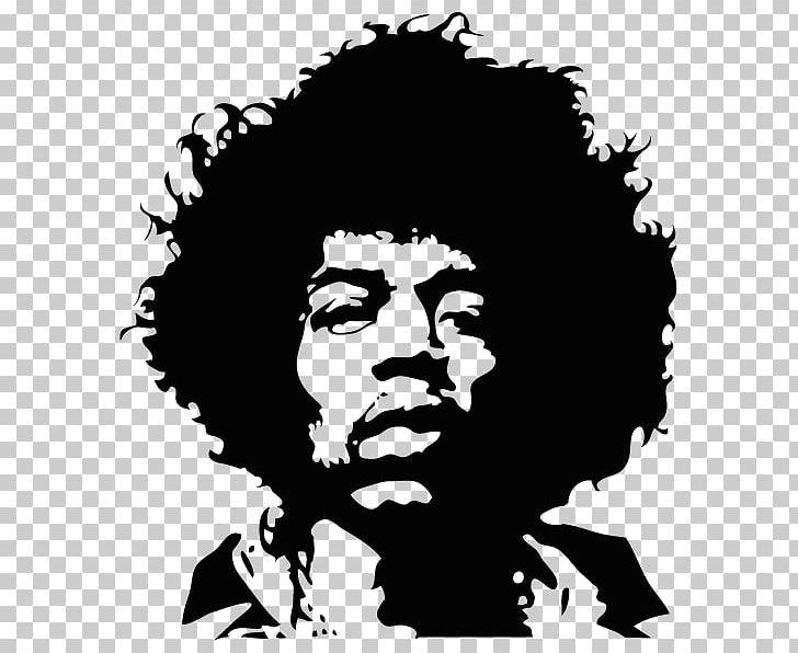 Jimi Hendrix Wall Decal Sticker Guitarist PNG, Clipart, Black, Black.