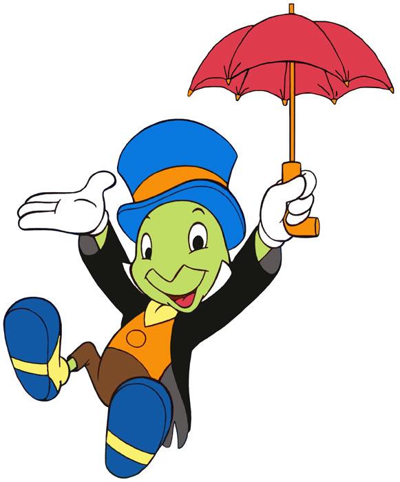 Disney jiminy cricket clipart.