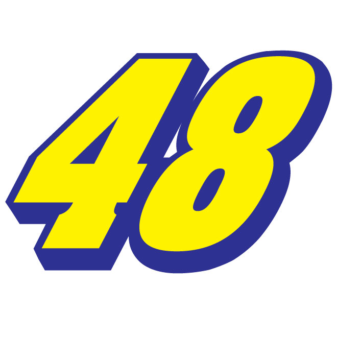 Jimmie Johnson 48 vector number.