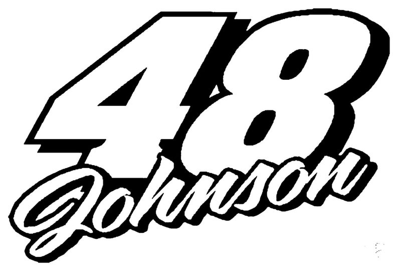 Jimmie Johnson Decal free shipping.