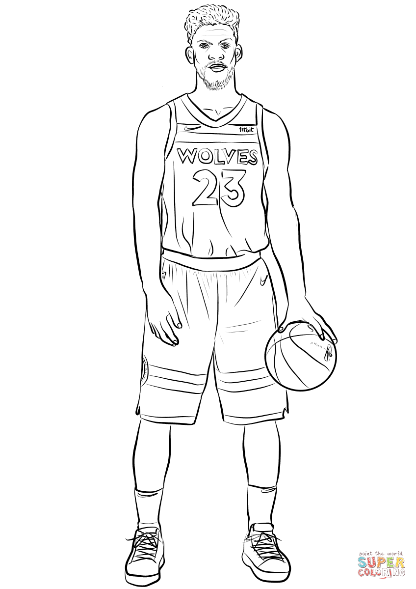 Jimmy Butler coloring page.