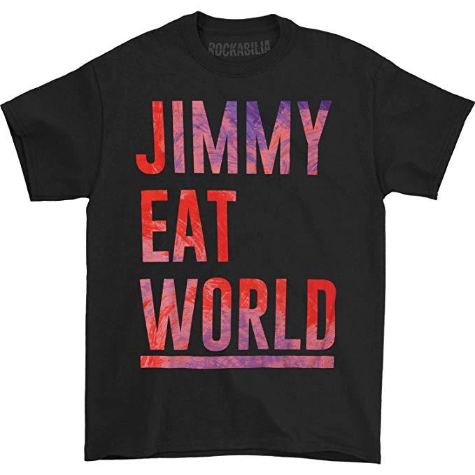 Amazon.com: Jimmy Eat World Men\'s Stacked Logo T.