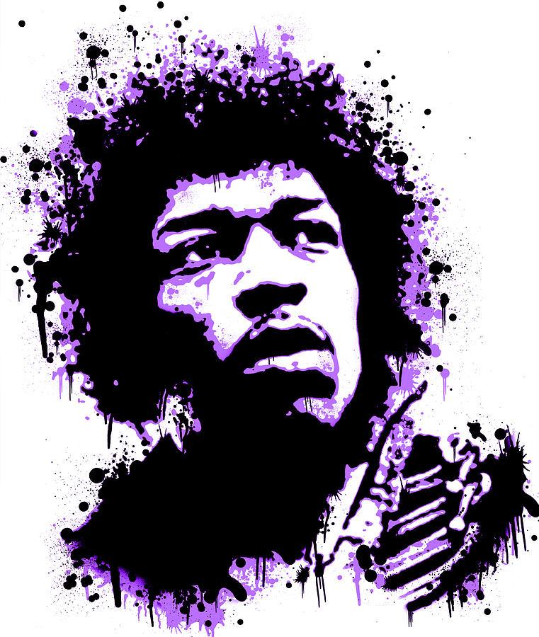 Jimi Hendrix Clip Art.