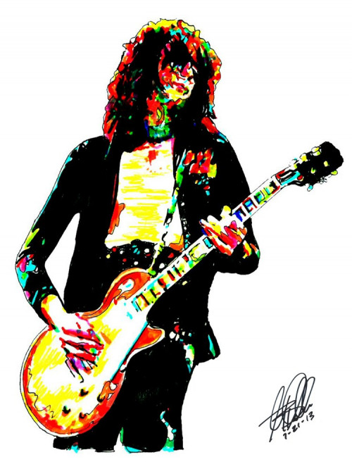 Jimmy Page, Led Zeppelin, The Yardbirds, Lead Guitar, POSTER w/COA 2.