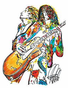 Details about Robert Plant, Jimmy Page, Led Zeppelin, Vocals, Guitar, Hard  Rock, PRINT w/COA.
