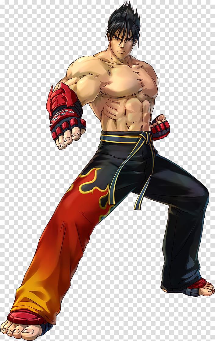 Jin Kazama Project X Zone, man wearing pants game character.