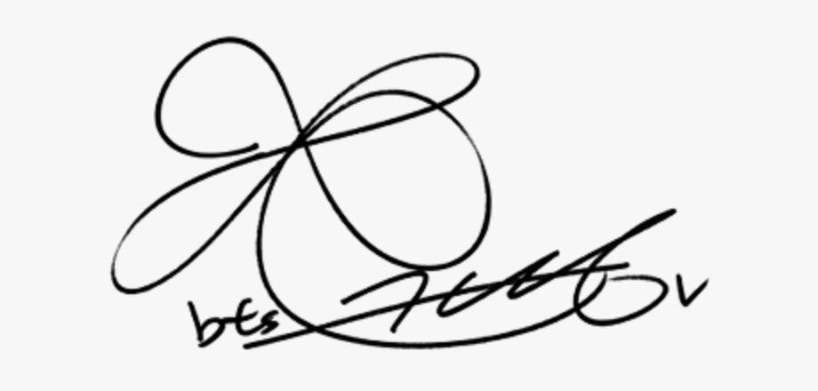 bts #taehyung #signature.
