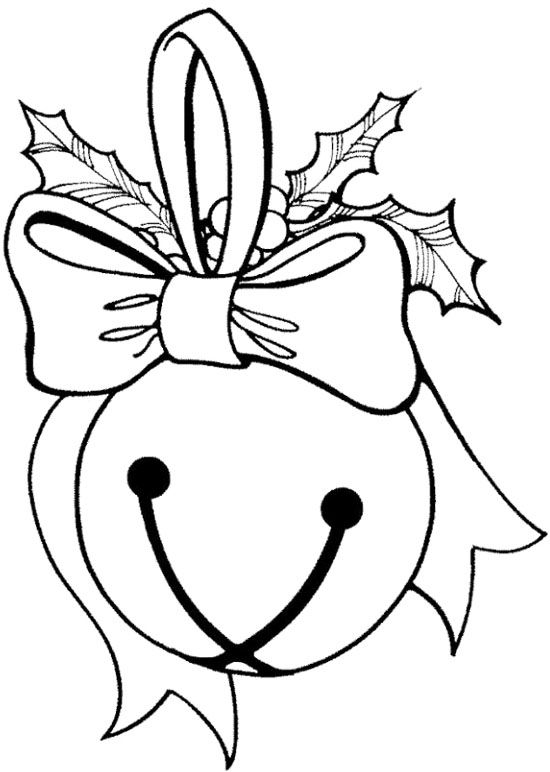 Jingle Bells Ball Coloring Page.