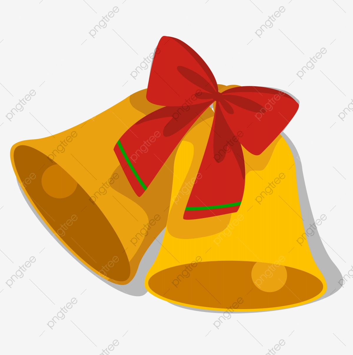 Jingle Bells Jingle Christmas Bow, Festive, Happy, Brass Bell PNG.