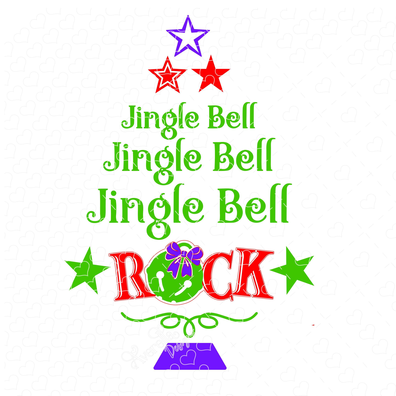 Jingle Bell Rock Christmas Tree SVG DXF.