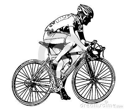 Black Cyclist Stock Illustrations.