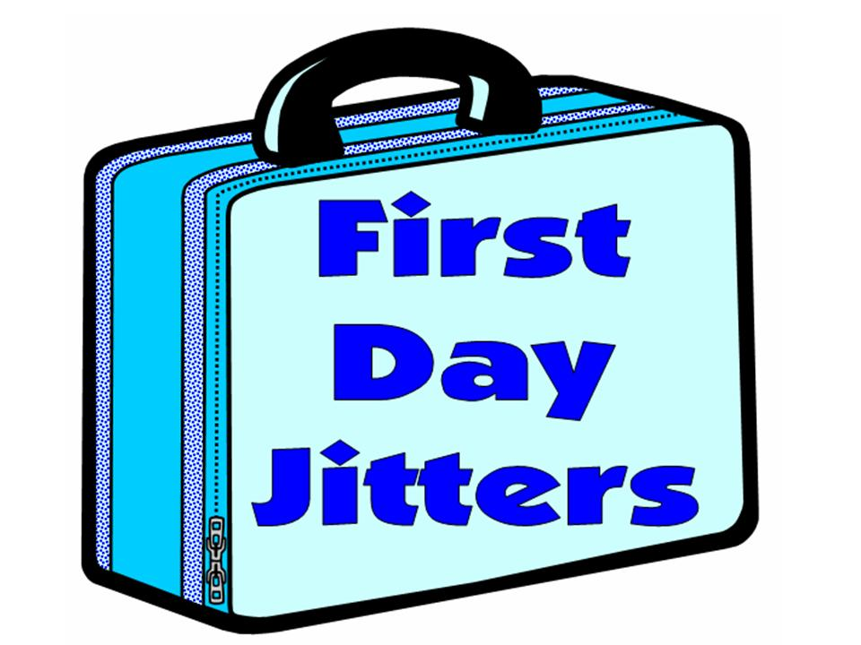 First day jitter clipart.