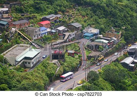 Stock Photos of Jiufen, is a mountain area in the Ruifang District.