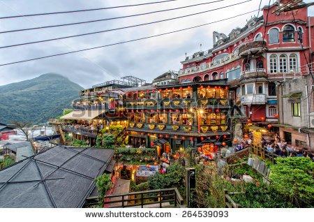 Taiwan tea house clipart.