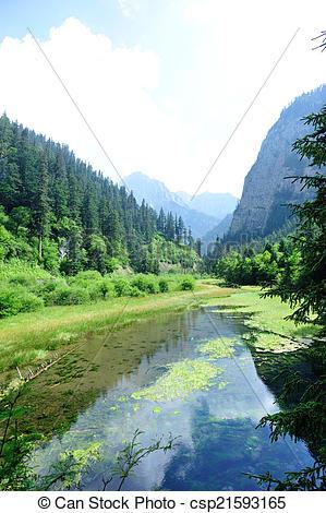 Stock Image of jiuzhaigou national park in china csp21593165.