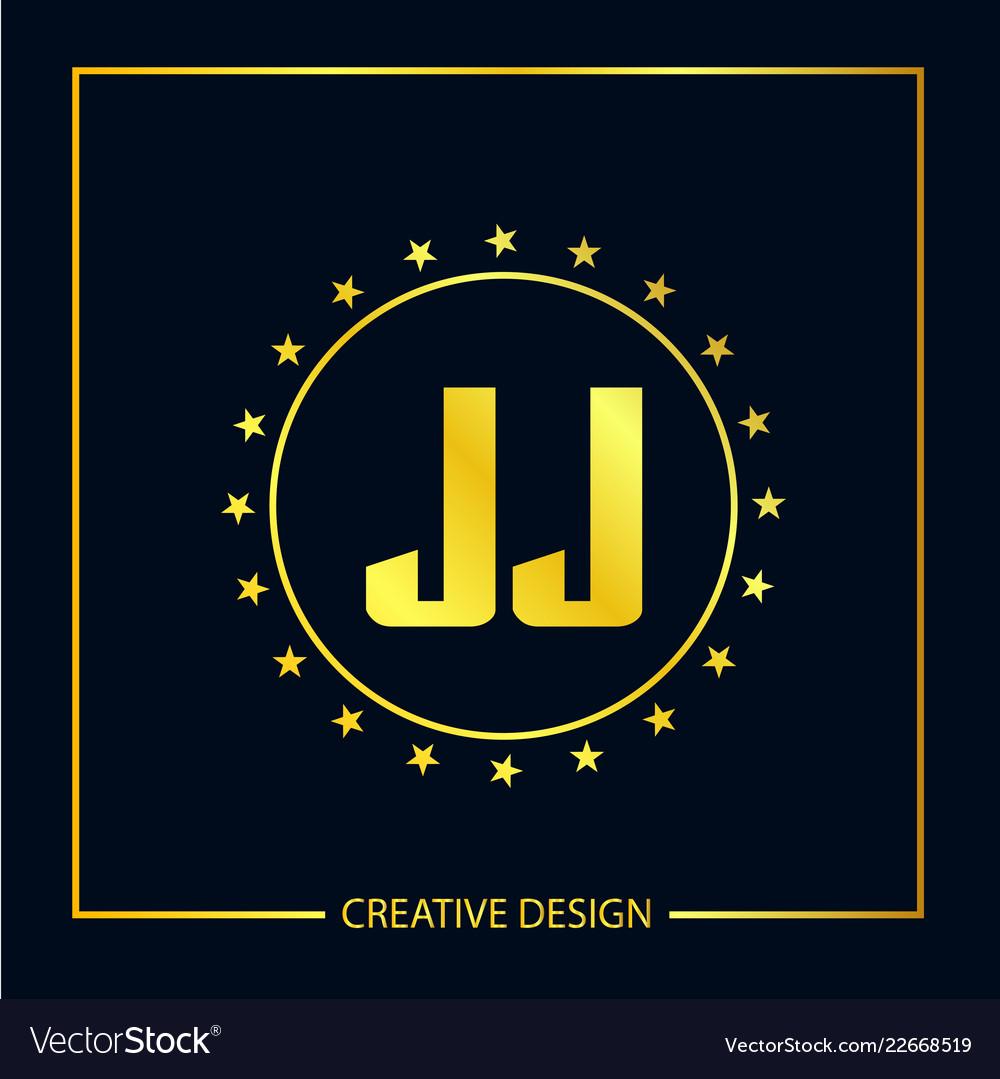 Initial letter jj logo template design.