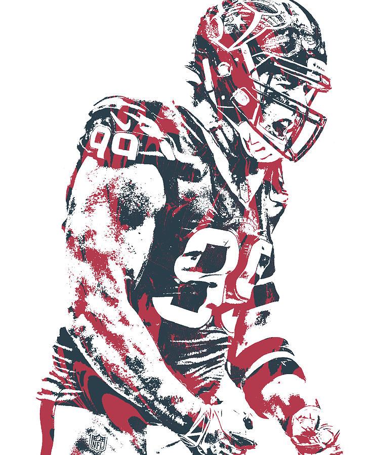 Jj Watt Houston Texans Pixel Art 80.