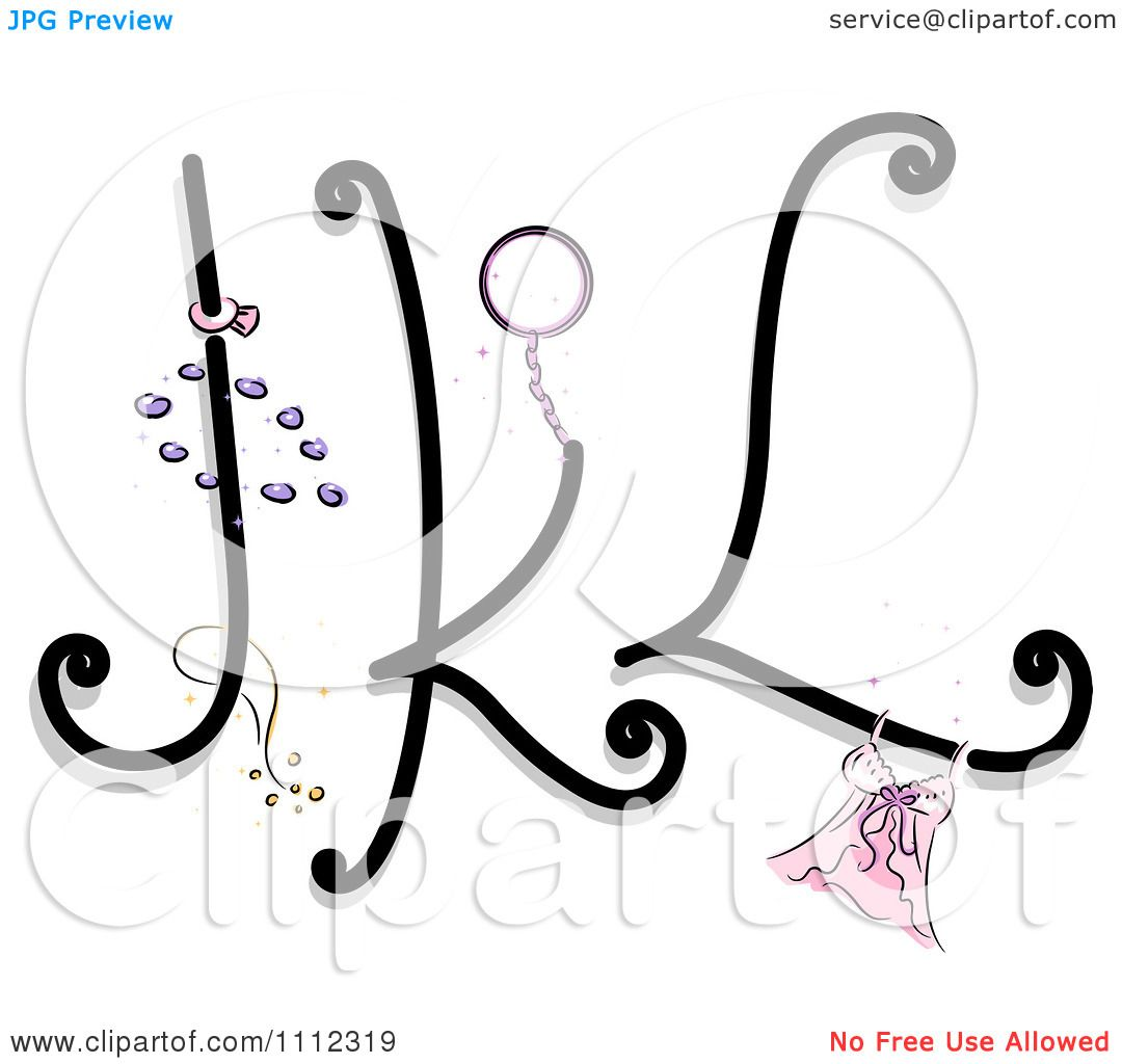 Clipart Feminine Alphabet Letters J K And L.
