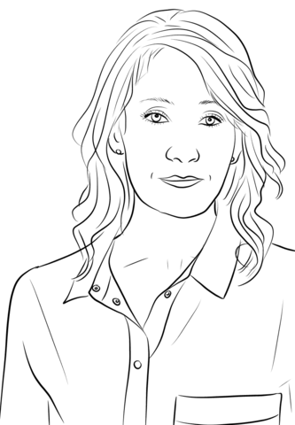 JK Rowling coloring page.