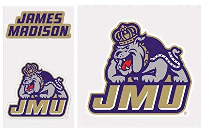 Amazon.com : WinCraft James Madison JMU Dukes Decal Gift Set.