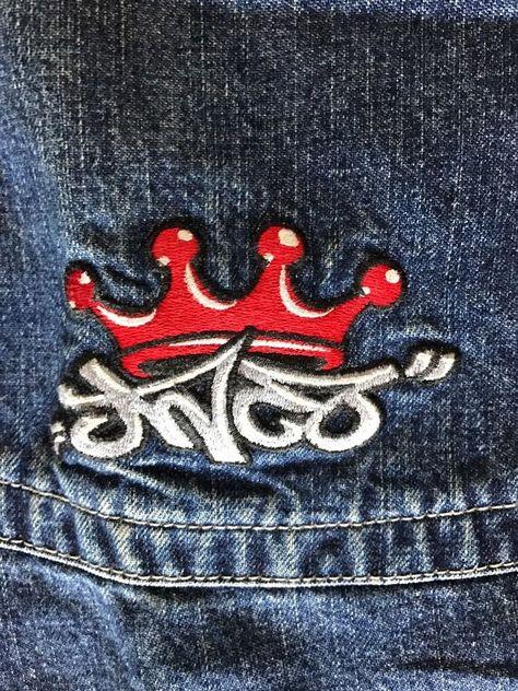 Vintage JNCO JEANS Rare Crown Logo 32 X 32 Fatboy Rave Skate.