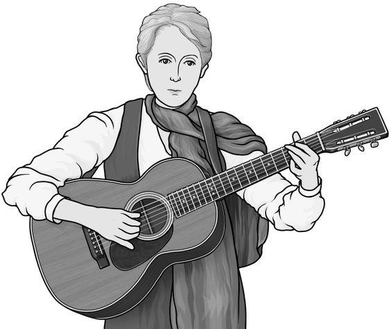 guitar (singer songwriter : Joan Baez).