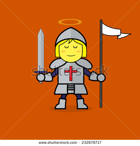 Joan of arc clipart.