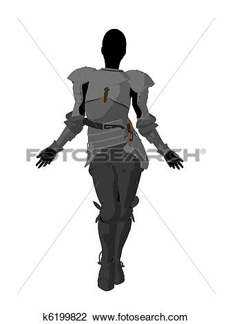 Clip Art of Joan of Arc Illustration Silhouette k6199822.